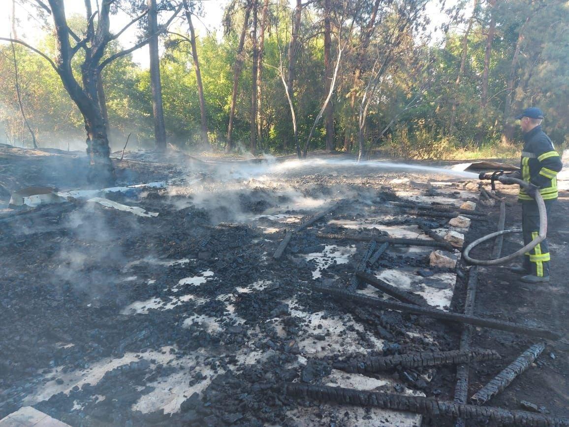 На Бориспільщині вщент згоріла альтанка, фото-1