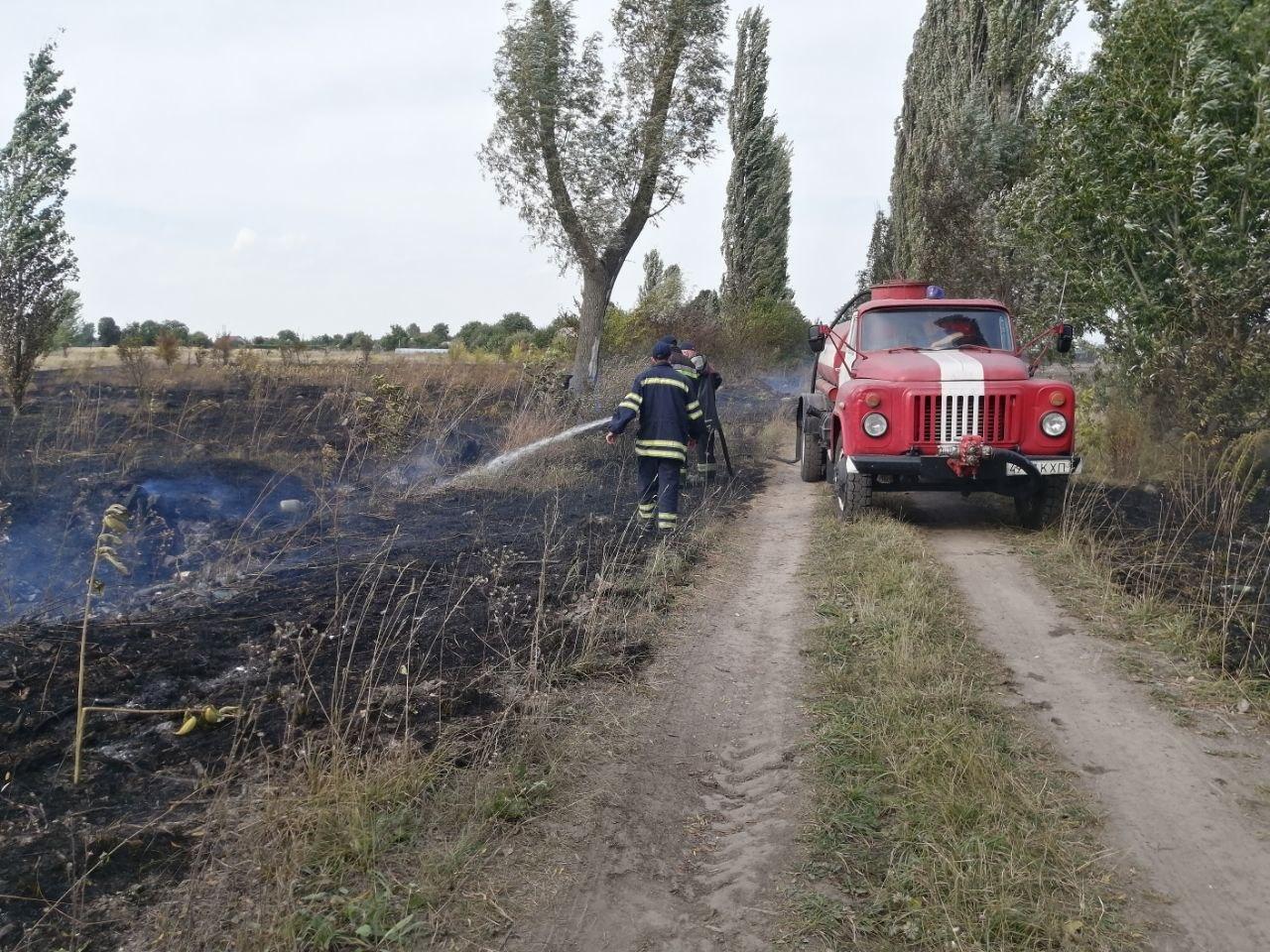 На Бориспільщині протягом дня сталося три пожежі, фото-1