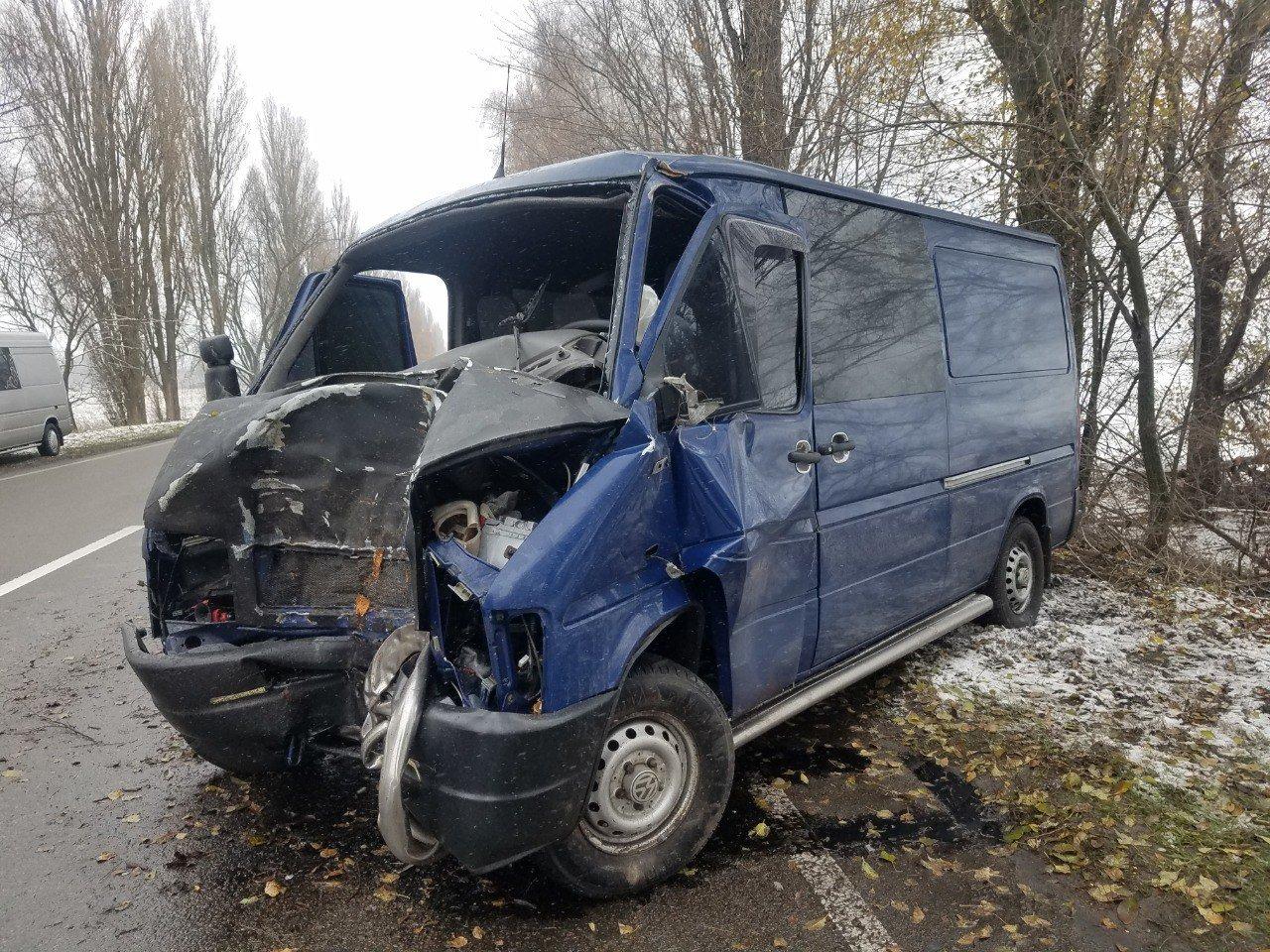 На Бориспільщині мікроавтобус врізався у дерево, фото-1