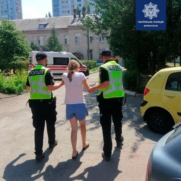 В Борисполі поліція допомогла батькам доправити обпечену дитину до лікарні, фото-1